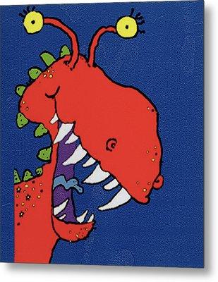 Red Monster Metal Print by Maylee Christie