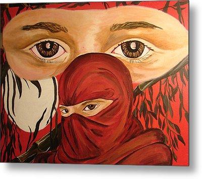 Red Ninja Metal Print by Lorinda Fore