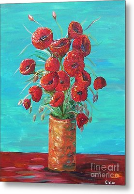 Red On My Table  Metal Print by Eloise Schneider