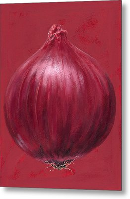 Red Onion Metal Print by Brian James