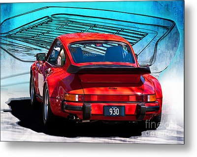 Red Porsche 930 Turbo Metal Print by Stuart Row