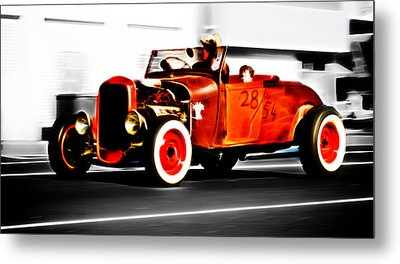 Red Riding Rod Metal Print by Phil 'motography' Clark