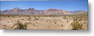 Red Rock Canyon Panorama Nevada. Metal Print by Gino Rigucci
