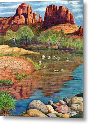 Red Rock Crossing-sedona Metal Print by Marilyn Smith