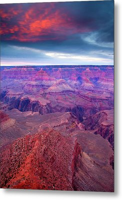 Red Rock Dusk Metal Print by Mike  Dawson