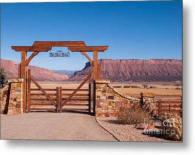 Red Rock Ranch Metal Print by Bob and Nancy Kendrick