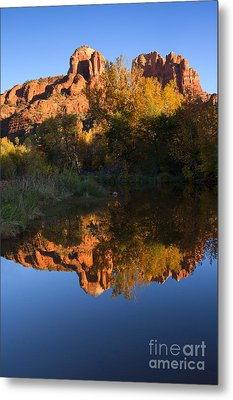 Red Rock Reflections Metal Print by Mike  Dawson