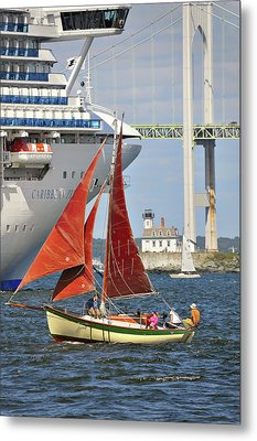Red Sails Newport Ri Metal Print by Marianne Campolongo