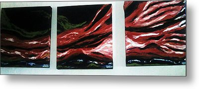 Red Sequence Metal Print by Vickie Meza