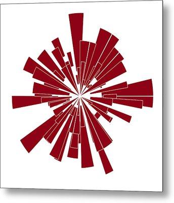 Red Shape Metal Print by Frank Tschakert