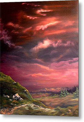 Red Sky At Night Metal Print by Jean Walker