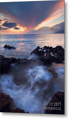 Red Sky Over Lanai Metal Print by Mike  Dawson