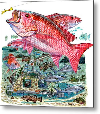 Red Snapper Metal Print by Carey Chen
