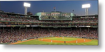Red Sox And Fenway Park  Metal Print by Juergen Roth