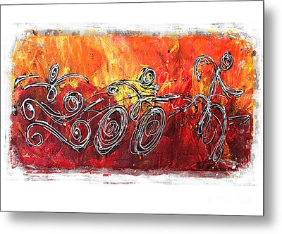 Red Splash Triathlon Metal Print by Alejandro Maldonado
