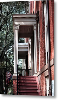 Red Stairs Metal Print by John Rizzuto