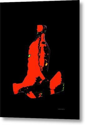 Red Still Life In Digital Art Metal Print by Mario Perez