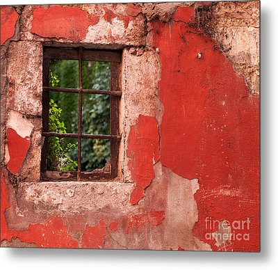 Red Wall Metal Print by Rick Piper Photography