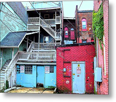 Red White And Blue Metal Print by MJ Olsen
