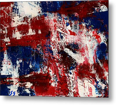 Red White And Blue Metal Print by Susan Sadoury