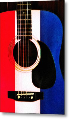 Red White And Blues Metal Print by Bill Cannon