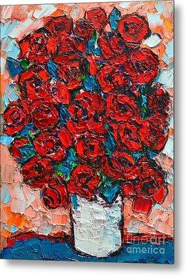 Red Wild Roses Metal Print by Ana Maria Edulescu