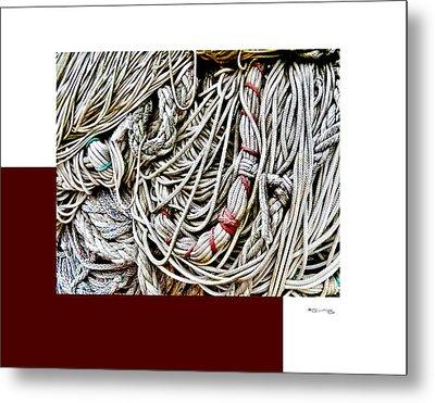 Redes 4 Metal Print by Xoanxo Cespon