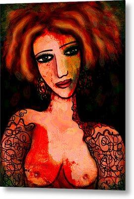 Redhead Metal Print by Natalie Holland