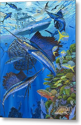 Reef Frenzy Off00141 Metal Print by Carey Chen