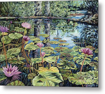 Reflecting Pond Metal Print by Danielle  Perry