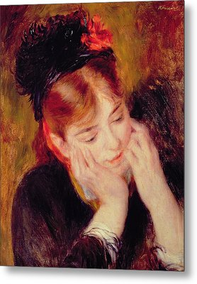 Reflection Metal Print by Pierre Auguste Renoir
