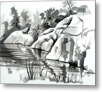 Reflections At Elephant Rocks State Park No I102 Metal Print by Kip DeVore