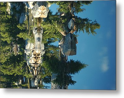 Reflections From Beartooth Highway Metal Print by Larry Moloney