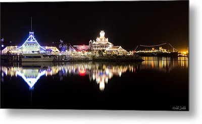 Reflections Of Rainbow Harbor Metal Print by Heidi Smith