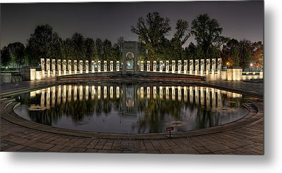 Reflections Of The Atlantic Theater Metal Print by Metro DC Photography