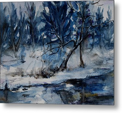 Reflections Of Winter Metal Print by Xueling Zou