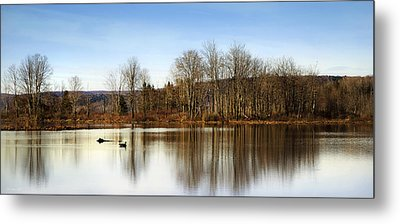 Reflections On Golden Pond Metal Print by Christina Rollo
