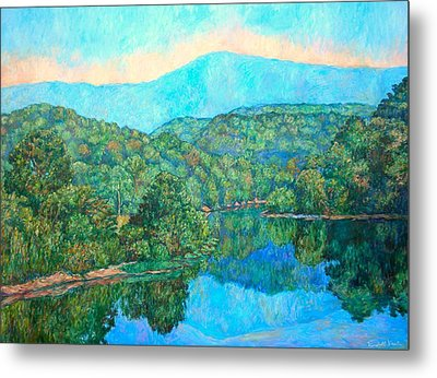 Reflections On The James River Metal Print by Kendall Kessler