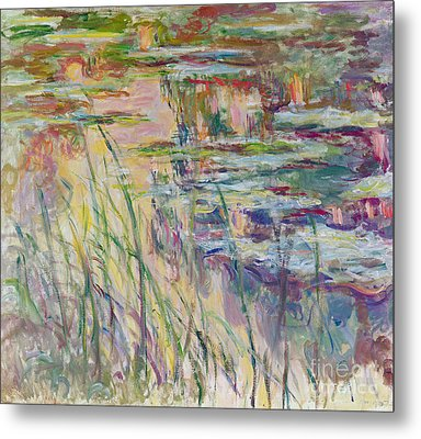 Reflections On The Water Metal Print by Claude Monet