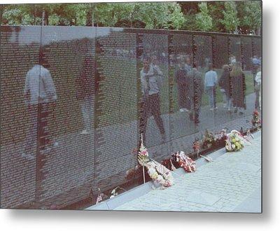 Reflections Vietnam Memorial Metal Print by Joann Renner