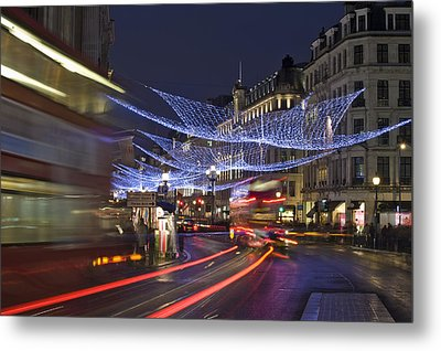 Regent Street Lights Metal Print by Matthew Gibson
