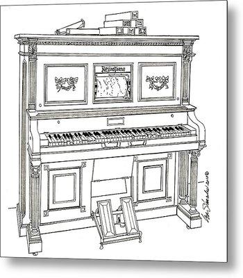 Regina Player Piano Metal Print by Ira Shander
