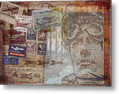 Regular Mail By Air Metal Print by Carol Leigh