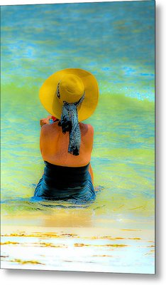 Relaxing At The Beach Metal Print by David Morefield
