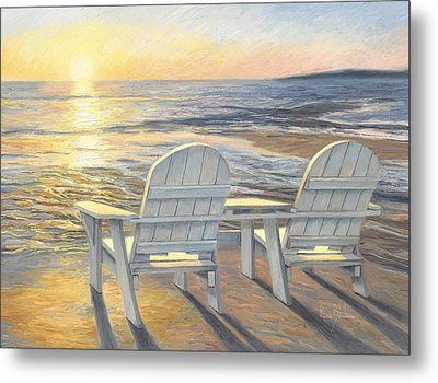 Relaxing Sunset Metal Print by Lucie Bilodeau