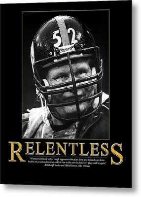 Relentless Mike Webster Metal Print by Retro Images Archive