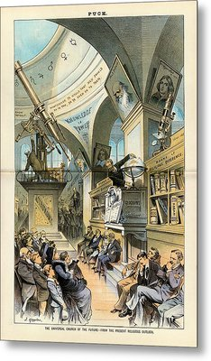 Religion And Science Metal Print by Library Of Congress