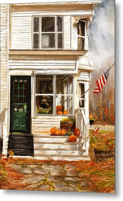 Remembering When- Porches Art Metal Print by Lourry Legarde