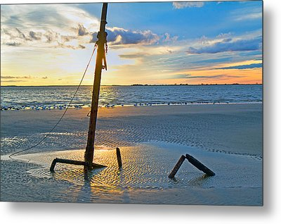 Remnants Of The Past Metal Print by Betsy C Knapp