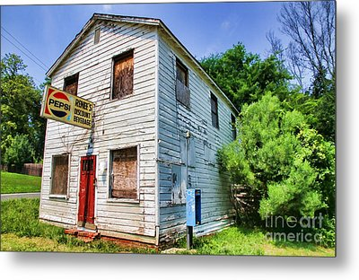 Renee's Discount Beverage Store By Diana Sainz Metal Print by Diana Sainz